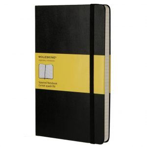 Moledkine Classic Large Squared Notebook musta