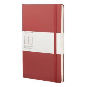 Moleskine Classic Large Ruled Notebook punainen