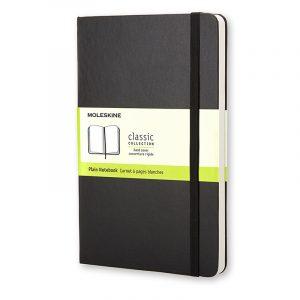 Moleskine Classic Large Plain Notebook musta kovakantinen