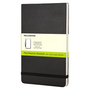 Moleskine Classic Pocket Plain Reporter Notebook Hard cover